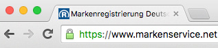 SSL-Schloss im Google Chrome Browser